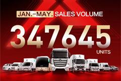 Foton Motor Global Sales Volume for Jan.-May. Up 36.8% YOY