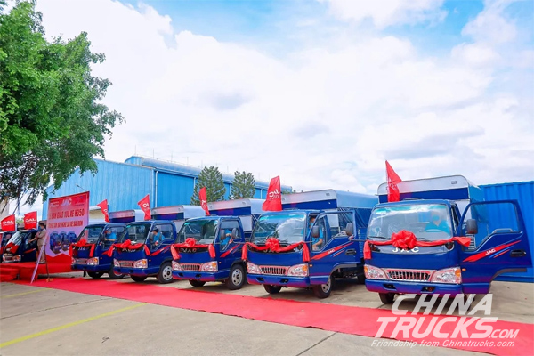 100 Units Light Truck Deliveries, JAC Trusted By Customers