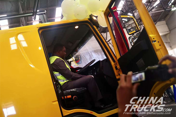 First Hongyan Vehicle Assembly in Tanzania