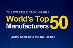 XCMG Makes Global Top Three on KHL's Yellow Table 2021 for the First Time