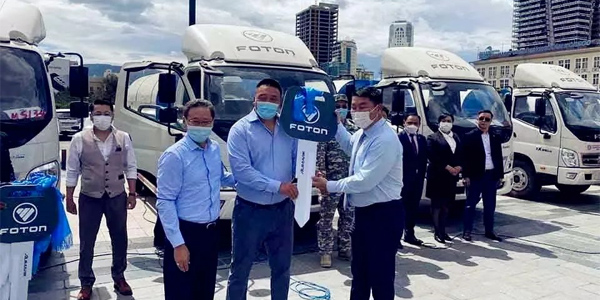 Foton Delivers 25 Sanitation Vehicles to State of Mongolia