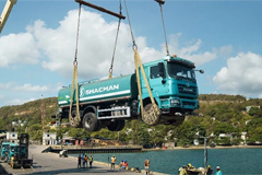 SHACMAN Sprinklers Deeply Involved in Volcano Clean-up Operations in Caribbean