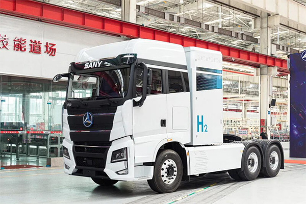 SANY's First Hydrogen-powered Heavy-duty Trucks Rolled Off the Line