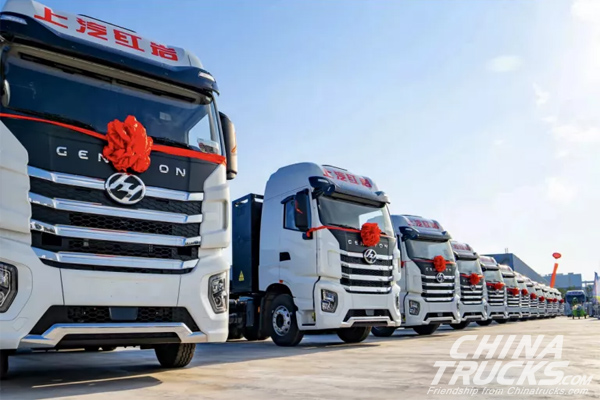 SAIC Hongyan Delivered 150 Full Electric Trucks to Customer in Heibei Province