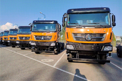 Beiben Exports AMT-equipped Dump Trucks to Zambia