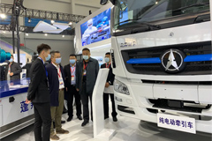 Beiben Exhibited Full Electric Tractor Head at China Manufacturing Expo