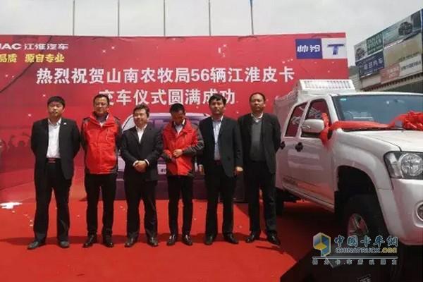56 JAC T6 Pickups Delivered in Tibet