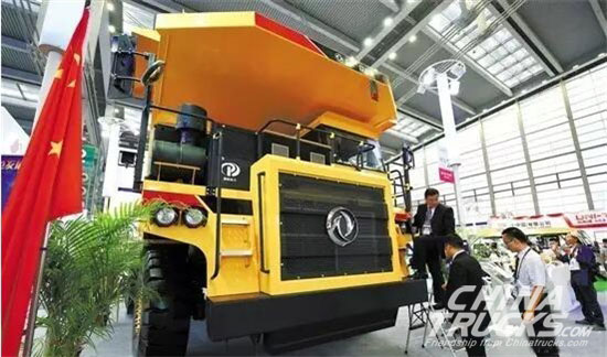 The Globe Largest New Energy Truck Dongfeng Debut in Shenzhen