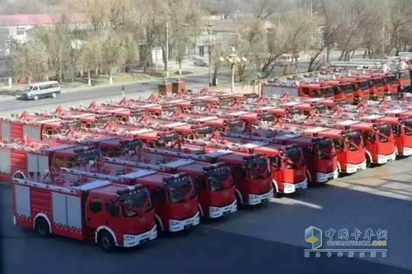 131 FAW Jiefang Fire Trucks to Support Fire Career Construction in Tibet and Xinjiang