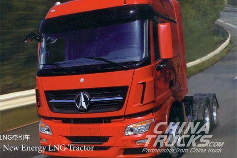 BeiBen Truck V3 6x4 New Energy LNG Tractor+Weichai Power