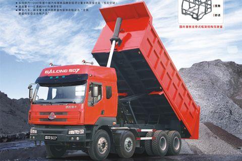 Balong 507 series 8x4 dumper+Yuchai Power