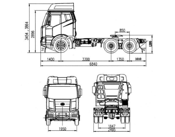 J6M Series-Model CA4250(7.7 Liter)6×4 Tractor