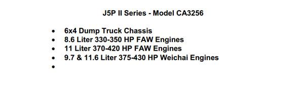 FAW J5PⅡ CA3256 6×4