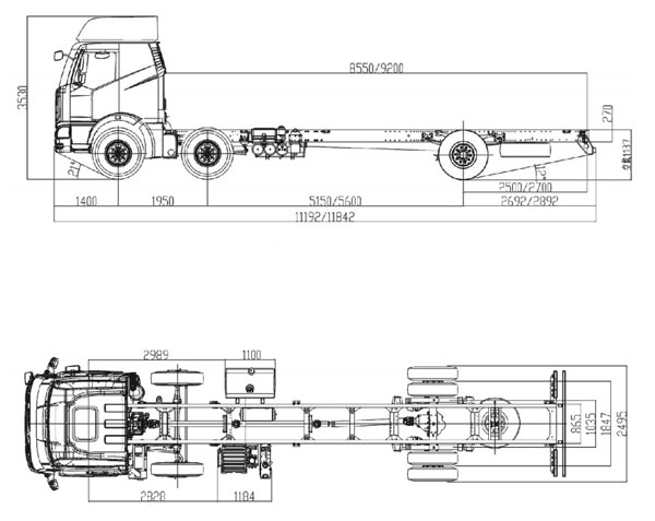 FAW J6M CA1250 6×4