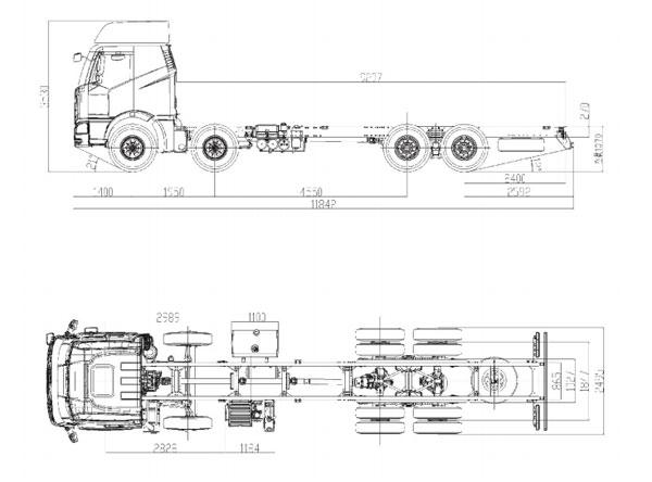 FAW J6M CA1310 8×4 Twin-Steer Rigid