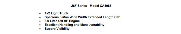 FAW J6F CA1086 4×2