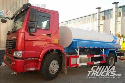 Sinotruk Howo 4x2 Water Tank Truck ZZ1167M4617C