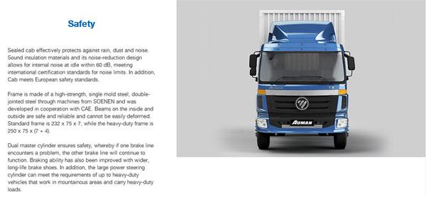 Foton AUMAN ETX Medium-Duty Flatbed Trucks