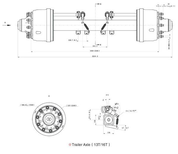 Hande Trailer Axle (13T/16T)