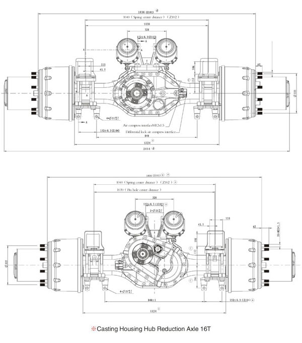 Hande Casting Housing Hub Reduction Axle 16T